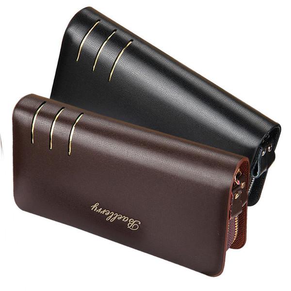 Men Long Purse Pu Leather Zipper Card Holder Billfold Clutch Money Bag Casual Wallet good quality Women Bag