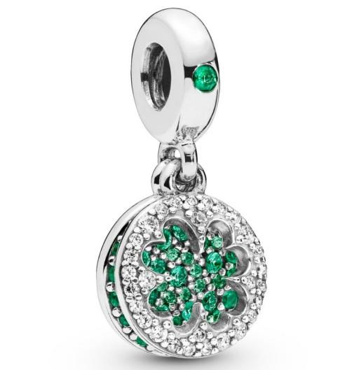 2019 spring shinny four leaf charms 925 sterling silver beads fit for pandora style bracelet necklace