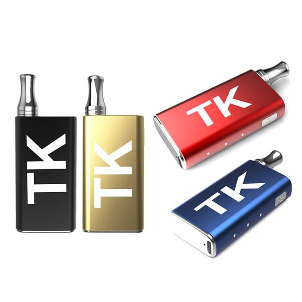 Оригинал TK Аккумулятор Vape Box Mod 400mAh VV Аккумулятор для густых масляных картриджей Тележки Электронная сигарета с USB зарядным устройством DHL