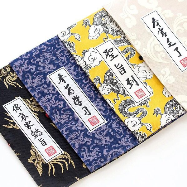 1pc 4 Color Chinese Palace Imperial Edict Style Canvas Pencil Case Pen Box Pencil Bag Storage Stationery School Supply Kids Gift