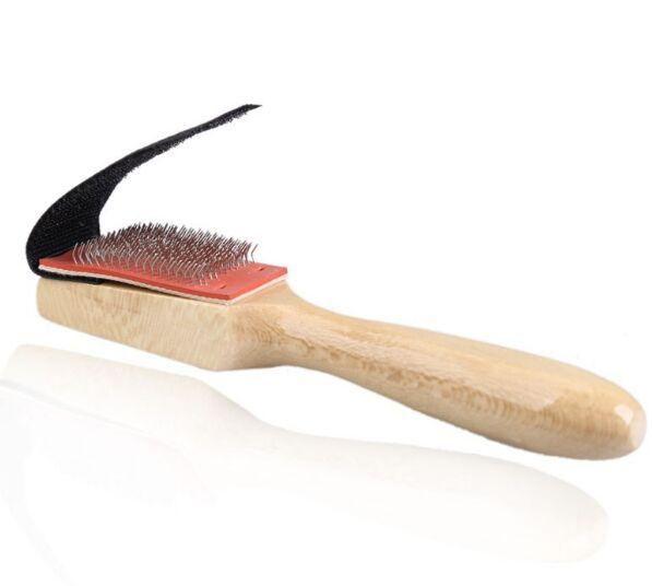 Limpiadores de alambre con suela de madera, zapatos de baile, cepillo de limpieza para calzado