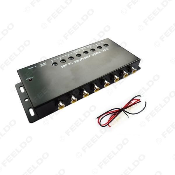 DC12V Araba Oto 1-8 Çıkış Video Spliter Sinyali Parça İçin DVD / LCD / TV Video Spliter # 1322