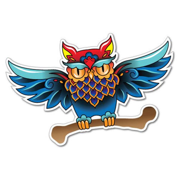 Swallow Bird Rose Sticker Tattoo Art Sailor Vinyl Accessories Decorative Personality Car Decal
