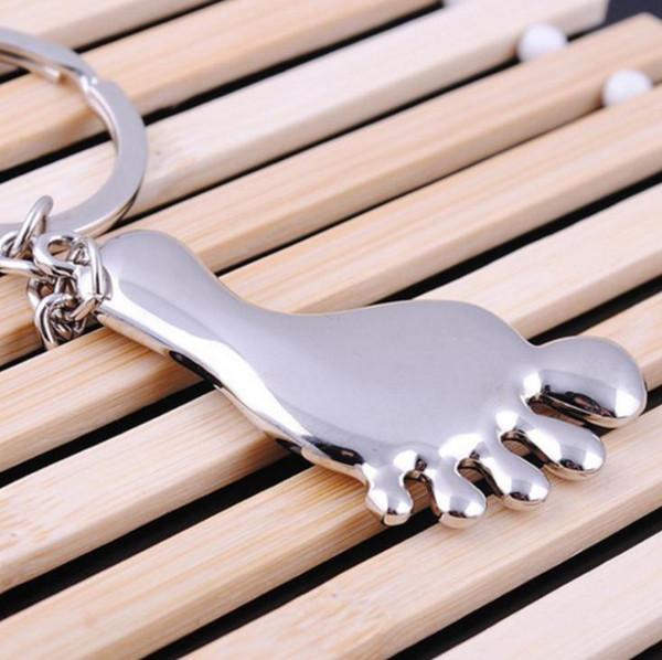 Alaşım Büyük ayaklar anahtarlık anahtarlıklar düğün iyilik Bebek Duş Parti hediye anahtarlık + DHL ücretsiz kargo