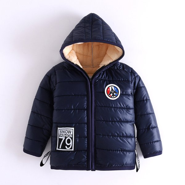 good quality Hot Selling 2019 Boys Winter Outerwear Jackets children Warm thicked Hooded Cotton parkas Children Down Jackets