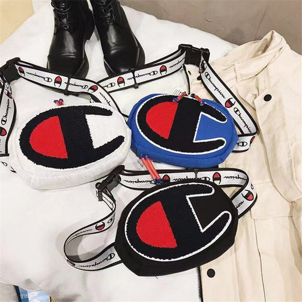 Ricamo Champions One-Shoulder Bag Unisex Fanny Packs Vita Belt Borse Moda Uomo Donna Travel Street Hip Hop Cross Body Bag petto B11