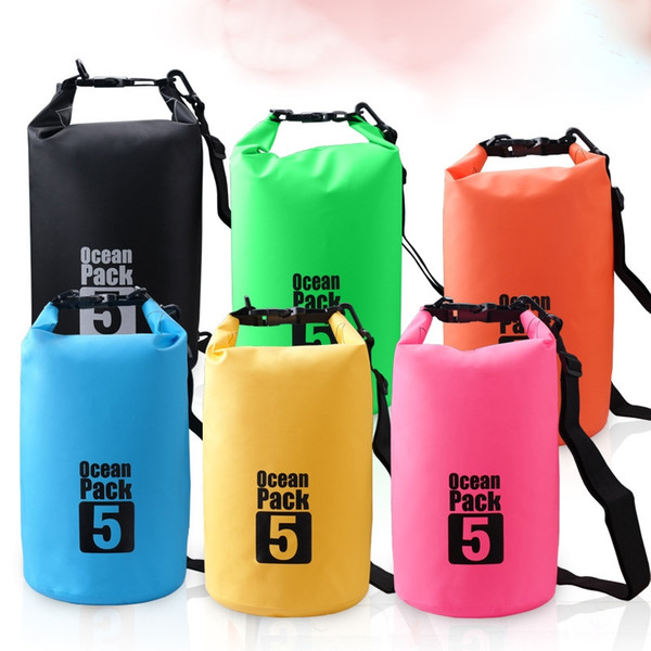 PVC Waterproof Dry Bag Outdoor Travel Sport Boating Kayaking Fishing Rafting Swimming Camping 5L/10L Capacity Bags #42560