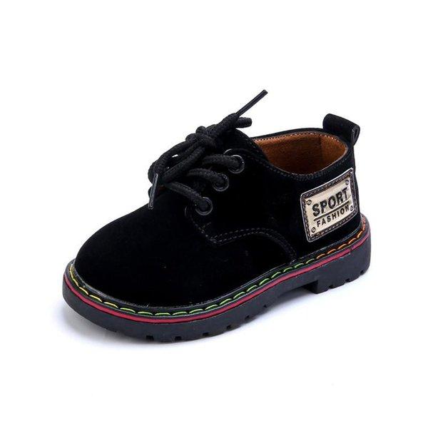 enfants 2019 nouveautes en cuir chaussures enfants mode fond mou chaussures de cuir pour garcons taille 21-25 plates avec des chaussures pour garçons