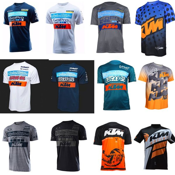 Men's Casual KTM Motorcycle T Shirt Jersey Short Sleeve Airline Jersey Motocross DH Downhill MX MTB Breathable Off-Road XXL 001
