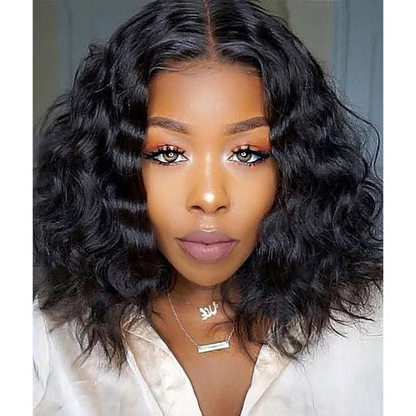 360 Lace Frontal Human Hair Wigs Short Water Wave Wig Glueless Full Lace Hair 150% Density with Baby Hair for Black Women