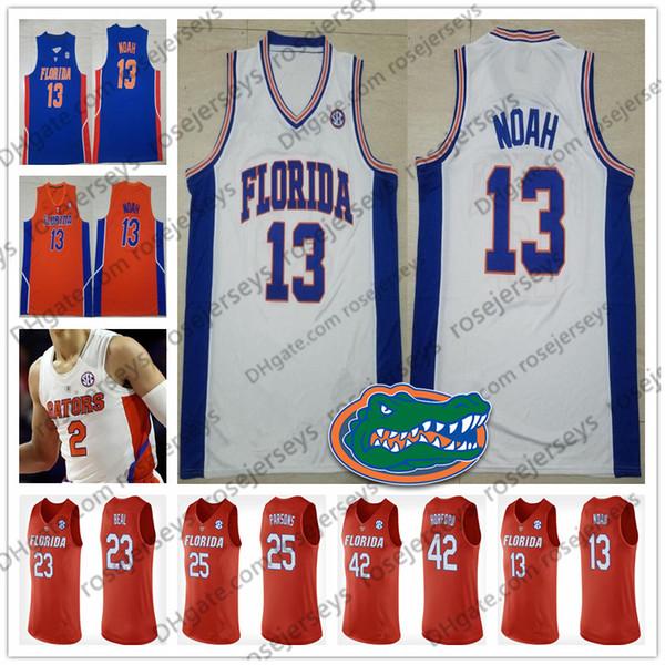 NCAA Florida Gators # 13 Noah 23 Beal 42 Horford 41 Walk 55 Williams Joakim Bradley Al Neal Jason 2019 Jersey de baloncesto retirado 4XL