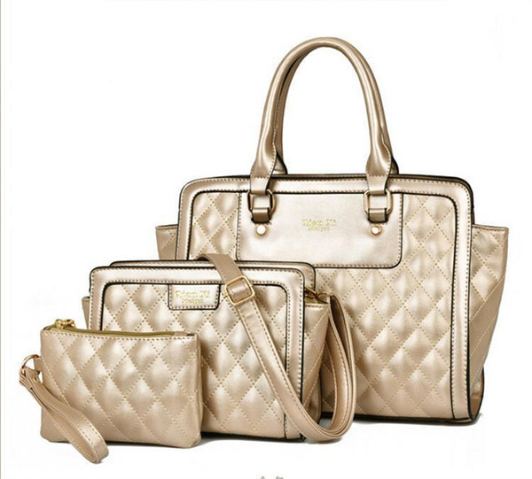 2 Sets Women Totes Bags Nice New Vogue Fashion Classic Alligator Pu Leather Designer Handbags Ladys Shoulder Bags And Purse .