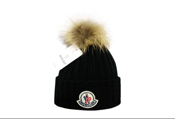 2019 yüksek kalite lüks kadın Rahat Kış şapka örme Artı Kadife Pamuk Kap Unisex marka Yetişkin Mektupları Skullies Beanies Kış Erkekler Şapka