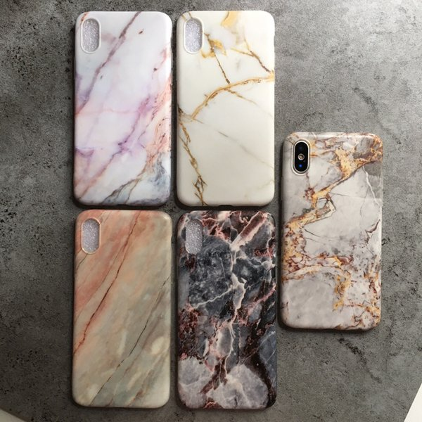 Luxury Designer Vintage Marble Soft TPU Case Protect Cover for IPhone X XS MAX XR 8 6 6S 7 Plus Cell I Phone 7plus Skin Cover 31 Designs