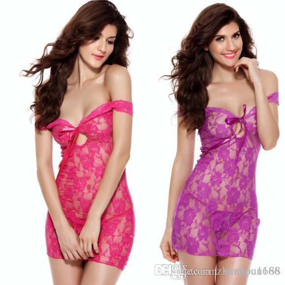 Европейские и американские женские платья сексуальные кружева прозрачные сексуальные пары флирт пижамы незаменимые вещи дома ночные клубы свободный корабль