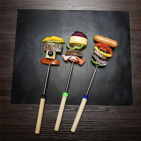 best selling BBQ Grill Mat Reusable Non Stick Barbecue Baking Mats Sheet Grill Foil BBQ Liner Mat for Charcoal, Gas , Electric Grill BBQ Tool