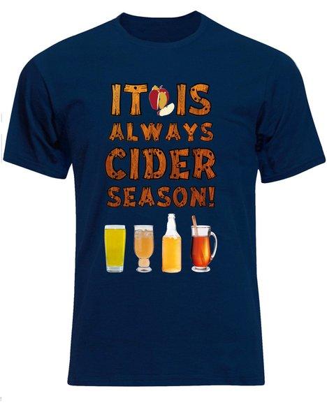 Es ist immer Apfelwein-Jahreszeit-Alkohol-Äpfel-Pub-Zitat-Männer T-Shirt-Spitzenoberseite AE99 Lustiges freies Verschiffen Unisex lässig