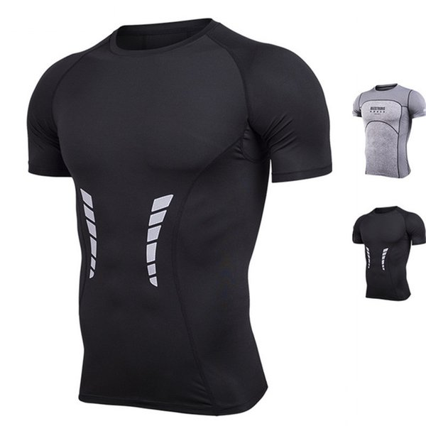 Hot Sale Sport Shirts Men Summer Quick-drying Wicking Running T-Shirts Training Compression Breathable Sports Fitness Gym Shirts