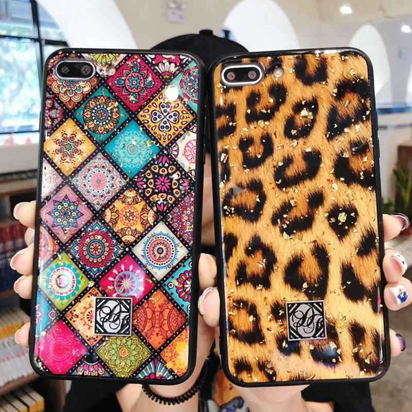 Luxury peacock leopard Printing Phone Cases for IPhone XR XS MAX 8 7 Plus 6S TPU Back Stand Holder Cover Case