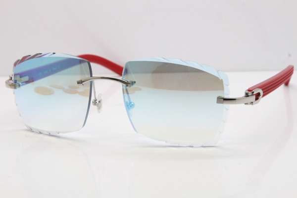 Silver Red Mirror Lens