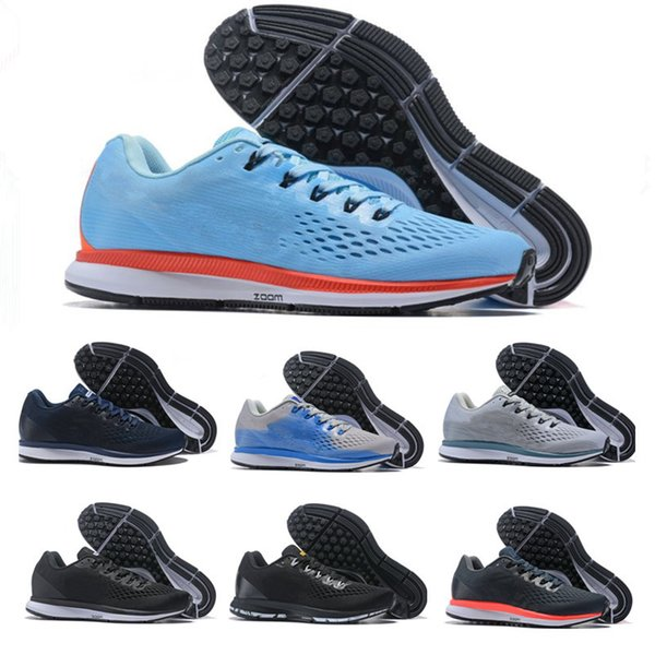 02efa3c4a8bc3 2019 High quality zoom Pegasus 34 Summer Breathable Men Women Running Shoes  Ash Black White Chaussures