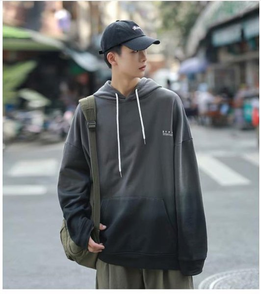 Mens Designer Hoodies Color Matching Autumn Casual Street Style Loose Long Sleeved Hooded Pullover Thick Sweatshirts Fashion Mens Hoodies