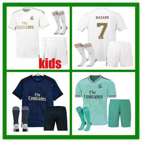 newest 4f5da 698c4 2019 19 20 Eden Hazard Real Madrid 2019 2020 Soccer Jerseys Kids Sets With  Socks JOVIC BENZEMA ISCO MODRIC CHILD Jersey Football Kits BOY Uniform From  ...