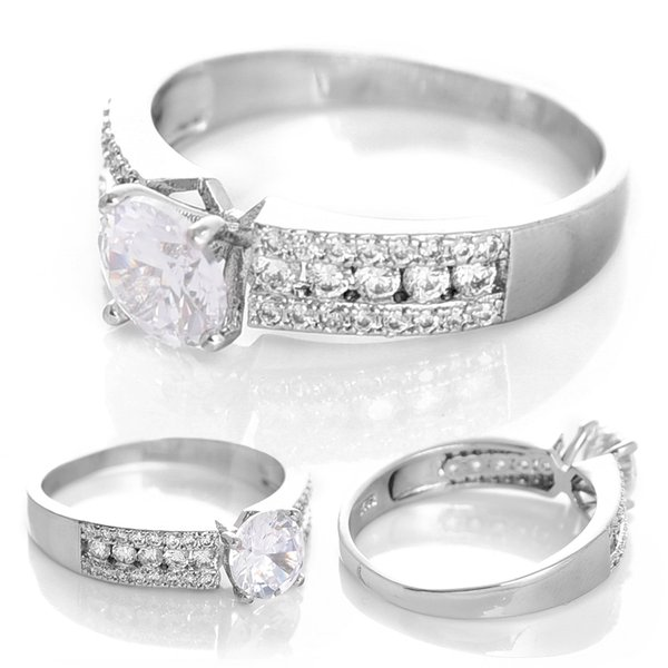 Mode Populaire Européen Et Américain Bijoux En Gros Huit Incrusté Zircon Plaqué Or Bague De Diamant Bijoux Bijoux De Mariée