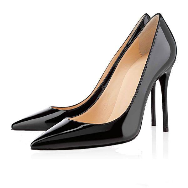 Kırmızı Alt Ayakkabı Kadın Yüksek Topuklu Bayan Ayakkabı 12 CM Topuklu Kadın Ayakkabı Pompaları Seksi Siyah Bej Düğün Ayakkabı Lüks Tasarımcı Sandalet