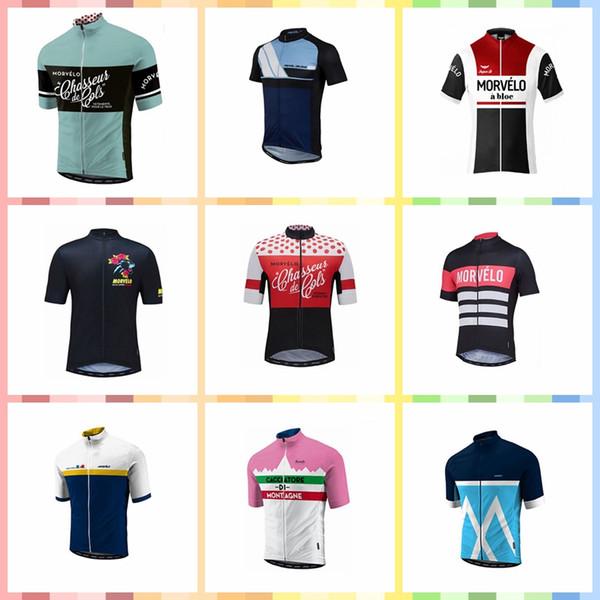 Equipo Morvelo hecho a medida Ciclismo Mangas cortas jersey Verano transpirable a prueba de viento bicicleta de carreras de ropa deportiva S517047