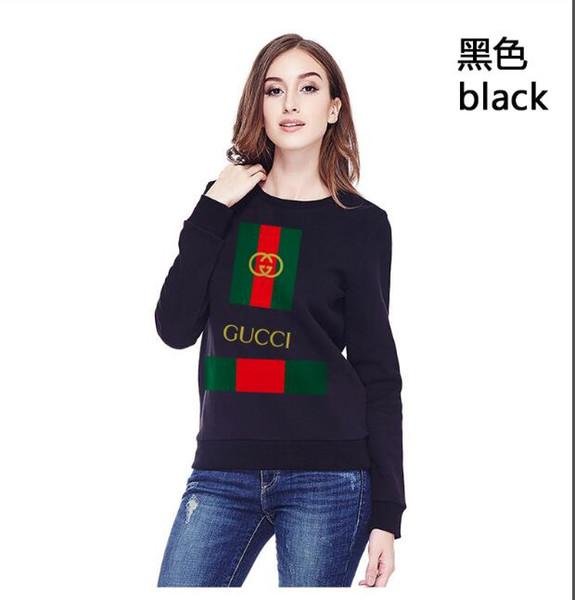 Осень и зима новая мода случайные легко построить свободный длинный рукав футболки круглого воротник распечатанного пуловер с нижней рубашкой