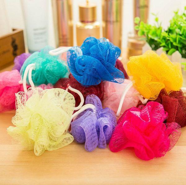 Multi Colors 8g/15g/20g Bath Shower Bath Brushes Shower Ball Mesh Bath and Shower Sponge Body Cleaning Ball CCB3