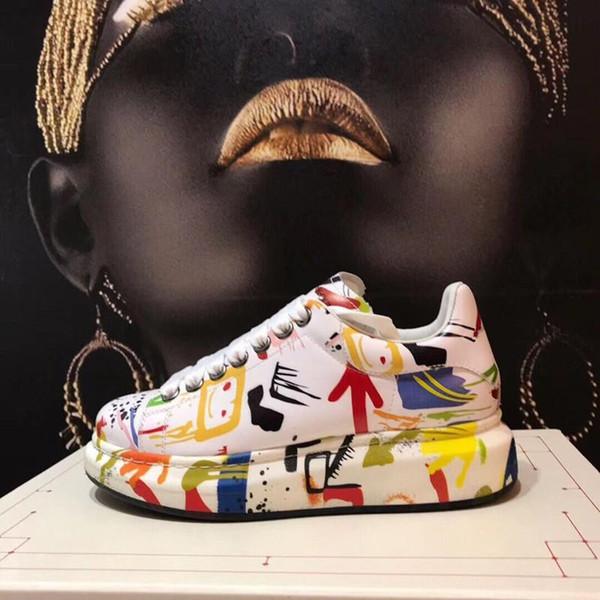 2019 мужские и женские классические кожаные арены бренд плоские туфли спортивные туфли мужские туфли модные роскошные повседневные кружева MW05