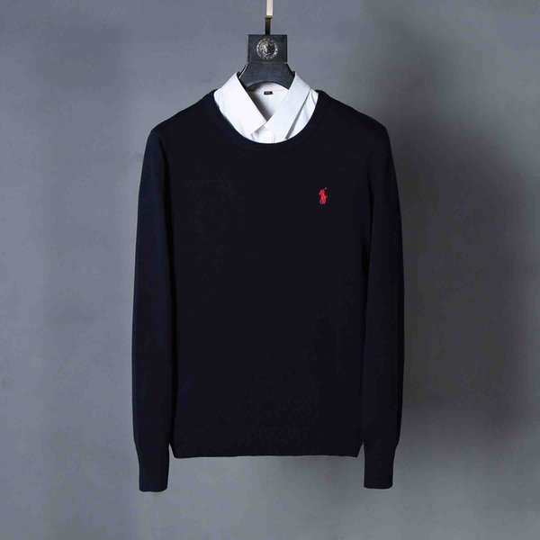 2019 New Ralph Men Lauren Mens Polo Sweater High Quality Designer Hoodie Fall Winter Fashion Mens Pullover Sweater Embroidery Pony Logo Shirt From