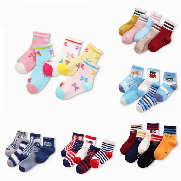 Kinder Baumwollsocken Herbst Multi Farben Mädchen Jungen Casual Sports Socken Kinder Crew Socken