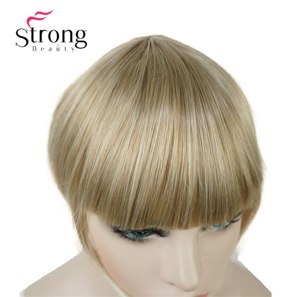 Synthetic Hair Thin Neat Air Bangs Clip In Fringe Front Hair Temple Bangs Hair Piece