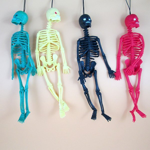 Event Party Holiday DIY Decorations Halloween Creepy Ghost Props Horror Skull Hanging Human Skeleton Scary Hanging Skull for Holiday Party