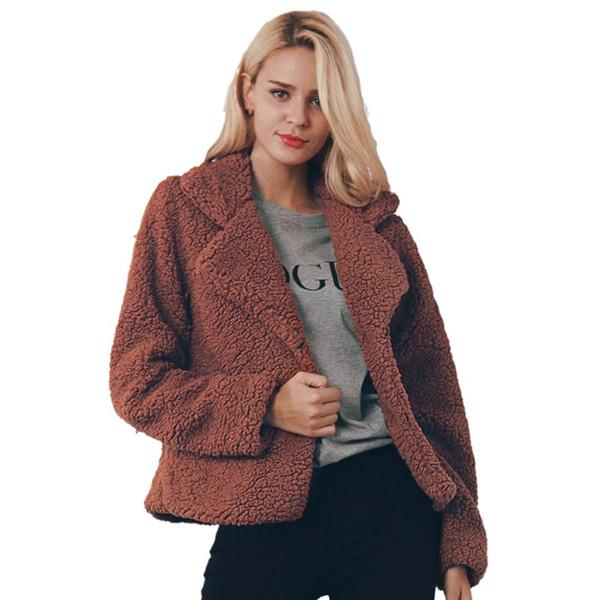 b74fcf7a1f6 Faux Fur Coat Women Brown Black Flurry Jacket Women Plus Size Fashions  Shaggy Coat Soft Warm