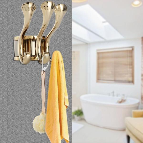 top popular Wall Hooks Bathroom Door Towel Hanger Holder Clothes Coat Hat Bag Hooks Wall Mount Hanger Colgadores Para Pared 2019