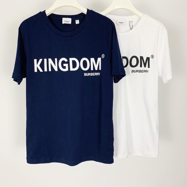 Lujoso diseño de marca BBR Carta Imprimir camiseta de manga corta cuello redondo Tee transpirable hombres mujeres amantes ropa exterior Streetwear camisetas
