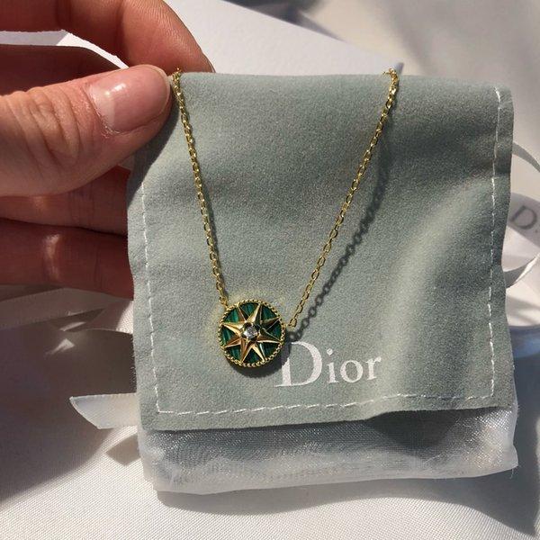 collier de créateurs de luxe bijoux de créateurs collier de femmes émeraude 925 collier de diamants ruban turquoise avec boîte d'origine