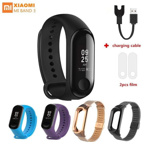 Xiaomi Mi Band 3 Smart Wristband Not Nfc Bluetooth Bracelet Weather Forecate Fitness Tracker Miband 3 With Charging Cable J190515