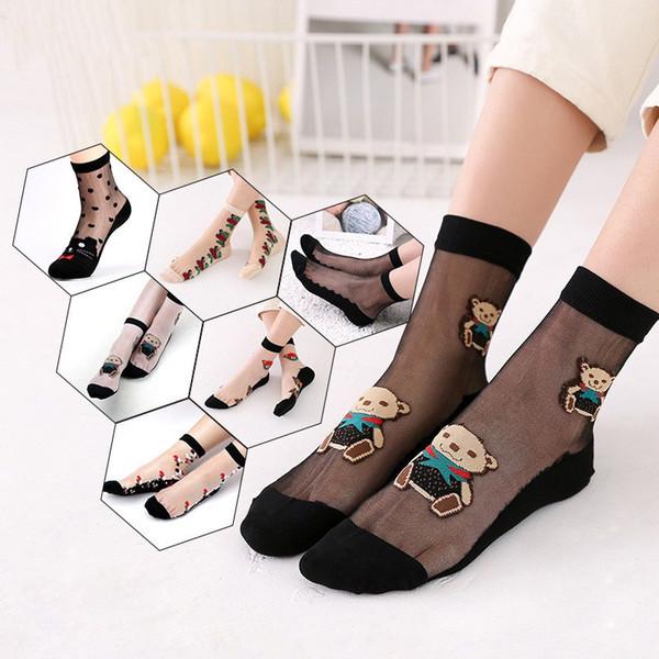 Women Soft Socks New Comfy Crystal Silk Stockings Boat Stocking Fashion Sport Socks for Women Men Boy Girl Socks