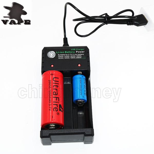 Vape Caricabatterie universale e cigs cigaretters elettronici caricabatterie per 18500 26650 10440 14500 16650 18350 18650 caricabatterie DHL gratis