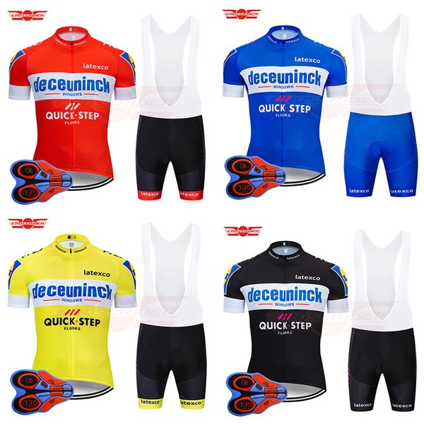 4 Color 2019 Quick Step Cycling Team Jersey 9D Bib Set Belgium Bicycle Clothing Bike Wear Clothes Mens Short Maillot Culotte