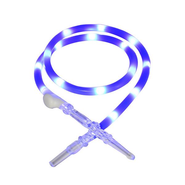 Tube coloré unique paille en silicone avec la lumière à l'intérieur de brûleurs à mazout Bong Les conduites d'eau Dab outil Accessoires pour Fumeurs Pour Fumeurs