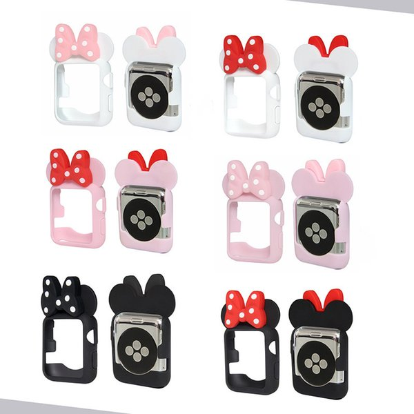 Soft Silicone Protective Case Cartoon Mouse Ears for Apple Watch Series 1 2 3 4