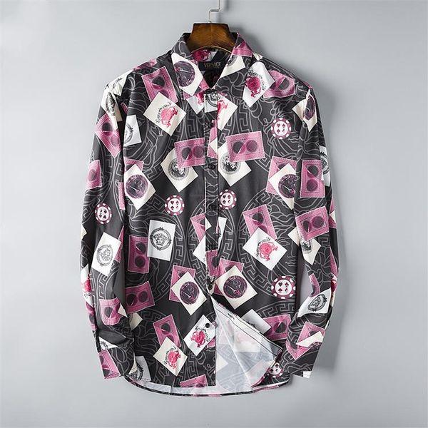 Venta al por mayor 2019 nueva marca del resorte del otoño casuales de manga larga camisas de los hombres de alta calidad de algodón casuales camisas de vestir de los hombres a cuadros de gran tamaño S48