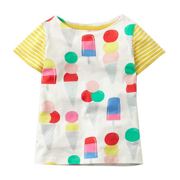 Baby Girls Clothes 2019 Brand Baby T-shirt Kids Clothing Animal Pattern Girls Summer Tops Tees 100% Cotton Children T shirts