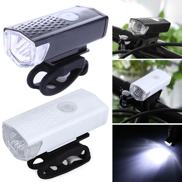 Fahrradlicht USB Wiederaufladbare 300 Lumen 3 Modus Fahrrad Frontlicht lampe Wasserdicht 6000 Karat Fahrrad Scheinwerfer Radfahren LED Taschenlampe